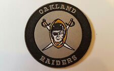 "Oakland Raiders Vintage Iron on Embroidered CLASSIC  Patches Patch lot 3"" x 3 A1"