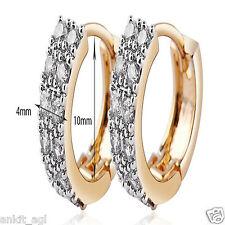 Stile Beautiful 24K Gold Plated American Diamond Hoop Earrings Women