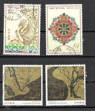 Japan 2019 Yen 84 Two Sets, (Sc # 4349-50; 4390-91), Stamped