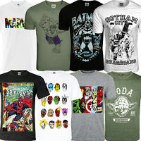 Mens Official Comic T Shirt Retro Vintage Print Casual Short Sleeve Graphic Gift