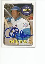 CLEON JONES Autographed Signed 2005 Topps Fan Favorites card New York Mets COA