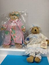 "Katie Applegate Teddy Bear 14"" by Applause with extra Original Pajama Outfit"