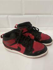 Nike Air Jordan 1 Mid Youth Gs Size 3Y Red/Black (640734-610)