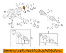 AUDI OEM 11-15 Q7 Front Suspension-Differential Assembly Inner Seal 0AA409189B