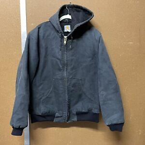 Carhartt Vintage J140 Black Distressed Work Jacket Mens Medium 251