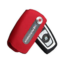 M Performance Red Suede Car Key Case Cover For BMW F30 F10 F18 1 3 5 7 Series M4