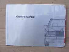 Mercedes 1245847183 Book Owner's Manual E & CE | W124 All Models