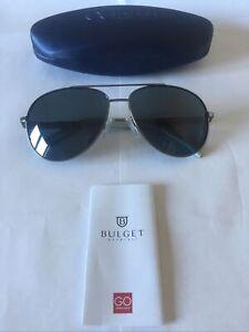 BULGET SUNGLASSES MODEL BG3143 COLOUR 02B DARK SILVER, BLUE/GREY POLAR LENSES