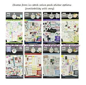 Happy Planner Washi or Value Pack Stickers Pick Princess, Mickey, Florals, Boxes