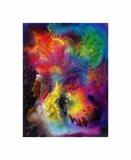 Colorful Indian Headdress Shaman Photo Art Picture Canvas Print