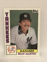1984 Topps Billy Martin Baseball card New York Yankees #81 Manager NY MLB