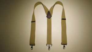 HIGH QUALITY. Many Colors Snap-On Belt Loop Men's Suspenders Y Style USA Made.