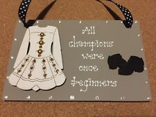 GORGEOUS HAND CRAFTED IRISH DANCE PLAQUE/SIGN PERFECT KEEPSAKE FOR A DANCER