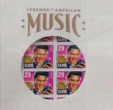 1993 ELVIS PRESLEY STAMPS +LP Record SAVER SLEEVE Mint Sealed Sheet 40 29¢ #2721