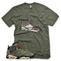 "New Olive ""CACTUS JACK"" T Shirt for Jordan 6 Travis Scott Cactus Jack Olive"