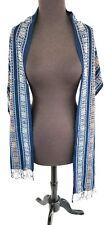 "Blue Denim Cotton Scarf 76"" Long, 13"" wide Handmade New , Soft, Free shipping"