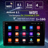 9'' Zoll 16GB Auto AUTORADIO MP3 Player Stereo 2 DIN GPS NAVI WiFi Touch Screen
