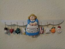 Eddie Walker Happy Everything Angel For All Occasion W/8 Ornaments Wall Hanging