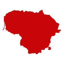 Lithuania shape (Lietuva) Car Van Bumper Wall Fridge Decal Souvenir Sticker Red