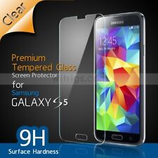 FOR SAMSUNG GALAXY S5 GENUINE TEMPERED GLASS FILM SCREEN PROTECTOR