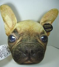 French Bulldog Pillow NWT 3D Face Realistic