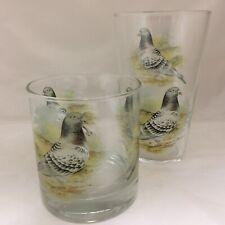 GREY WING PIGEON  WHISKY/Spirit TUMBLER & 1pt GLASS