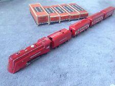 Lionel prewar 1936 RED COMET 264E, 265T, 603, 603, 604 Nice Orig. Condition