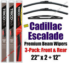 Wipers 3pk Premium Front Special Rear fit 2007-14 Cadillac Escalade 19220x2/12E