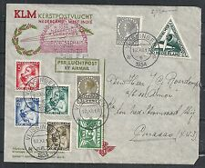 Netherlands covers 1934 attractive KLM Christmas Flightcover to Curacao