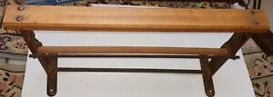 """Vintage Bulman Paper Roll Cutter Mercantile Butcher Store Wood and Metal 20"""""""