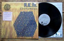 R.E.M. - Eponymous (1988) Vinyl, LP IRS-6262 Opened Shrink w/ Hype Sticker EX