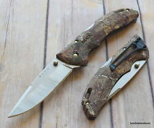 BUCK BANTAM BHW CAMO LOCKBACK FOLDING KNIFE WITH POCKET CLIP MADE IN USA