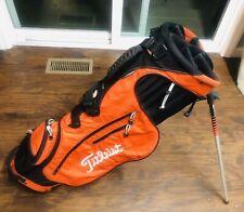 New listing Titleist Orange 4-way Ultralite Golf Stand Bag Lightweight