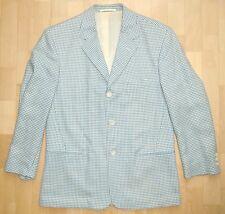 JOOP! Sakko Blazer Jacke Blau Weiß Schurwolle Gr. 48 M *TOP*