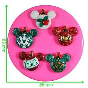 Disney Christmas Ornaments Mickey & Minnie Silicone Mould by Fairie Blessings