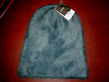 Bargain Gorgeous Topshop One Size Ultra Furry Blue Beanie Hat BNWT £18 In Store.