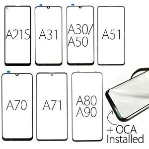 Samsung Galaxy A21/S/31/50/51/70/71/80 Replacement Screen Front Outer Glass+OCA