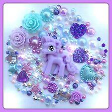 Violet mon petit poney thème cabochon gem & pearl flatbacks pour decoden artisanat