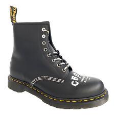Dr. Martens 1460 Unisex Boot Black CBGB & OMFUG Leather 8 Eye Lace Up Size UK 11