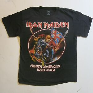 2012 IRON MAIDEN TOUR SHIRT CONCERT with DATES