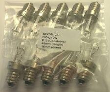 10 X 10w 260v E12/Candelabros tubulares (48/260/10/C)