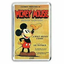 RETRO CARTOON ' MICKEY MOUSE ' OLD POSTER ART JUMBO FRIDGE / LOCKER MAGNET