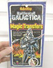 New listing 1978 Battlestar Galactica Rub N Play Magic Transfer Set Sealed Colorforms