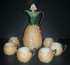 Antique Lusterware Schnapps Set RARE Germany Pineapple Never Used Gorgeous
