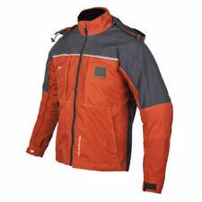 Blousons oranges textiles pour motocyclette