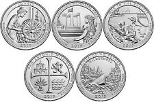 2019 US National Park Quarters Five Coins Uncirculated Straight from the US Mint