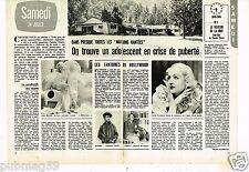 Coupure de presse Clipping 1976 (2 pages) Les Maisons hantées
