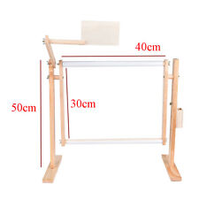 Needlework Stand Lap Table Wood Embroidery Hoop Frame Cross Stitch Sewing Us