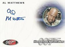 "James Bond 50th Anniversary - A205 Al Matthews ""Master Sergeant"" Autograph Card"