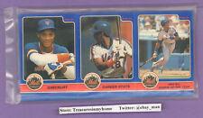 1984 Star Co Darryl Strawberry Mets 12Uncut Panels 36 Rookie Baseball Cards
